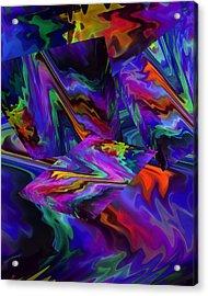 Acrylic Print featuring the digital art Color Journey by Lynda Lehmann