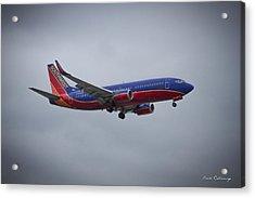 Color Me Beautiful Southwest Airlines N382sw Boeing 737 Airliner Art Acrylic Print by Reid Callaway