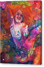 Color Me Mardi Gras Acrylic Print by Valerie Aune