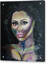 Color Me Niki Minaj  Acrylic Print by Regimia Duffie