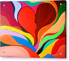 Color Mine With Love Acrylic Print by Charles  Jennison