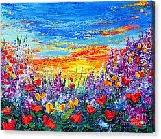 Color My World Acrylic Print by Teresa Wegrzyn