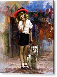 Color Of  Melody - Walk Acrylic Print