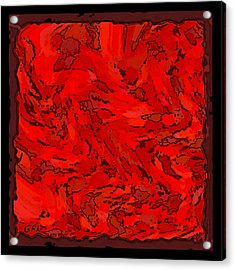 Acrylic Print featuring the painting Color Of Red Vi I Contemporary Digital Art by G Linsenmayer