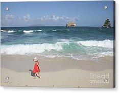 Color On The Beach  Acrylic Print
