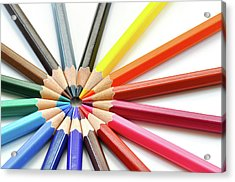 Color Pencils Acrylic Print