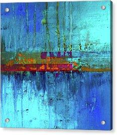 Color Pond Acrylic Print by Nancy Merkle