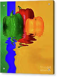 Acrylic Print featuring the photograph Color Pop Peppers By Kaye Menner by Kaye Menner