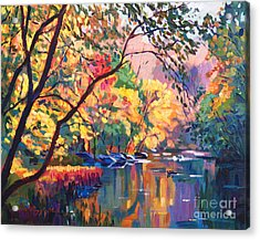Color Reflections Plein Aire Acrylic Print by David Lloyd Glover