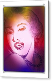Color Rendition Of Marilyn Monroe #2 Acrylic Print