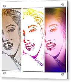 Color Rendition Of Marilyn Monroe #3 Acrylic Print