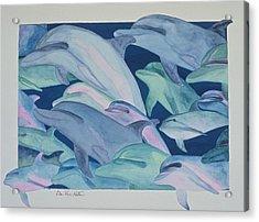 Color Rhythms Acrylic Print