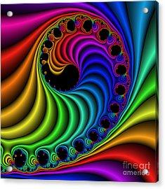Color Ribs 116 Acrylic Print by Rolf Bertram