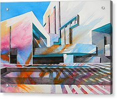 Acrylic Print featuring the painting Color Simphony by J- J- Espinoza