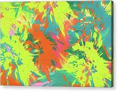 Color Splash 1 Acrylic Print by Bonnie Bruno