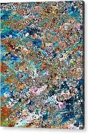 Color Splatter Acrylic Print by Frank Tschakert