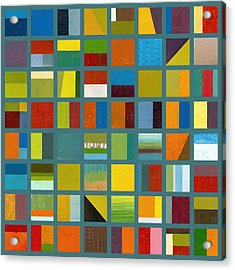 Color Study Collage 67 Acrylic Print by Michelle Calkins
