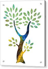 Color Tree Acrylic Print by Frank Tschakert