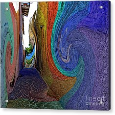 Color Undertow Acrylic Print by Ayesha DeLorenzo