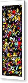 Color Unfolds Acrylic Print by Joan  Minchak