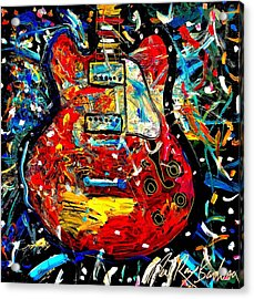 Color Wheel Guitar Acrylic Print
