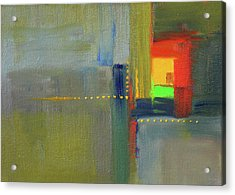 Acrylic Print featuring the painting Color Window Abstract by Nancy Merkle
