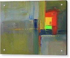 Color Window Abstract Acrylic Print by Nancy Merkle