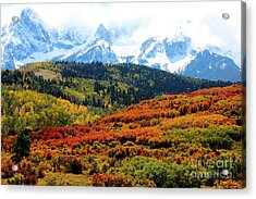 Colorado Autumn 2016 San Juan Mountains  Acrylic Print