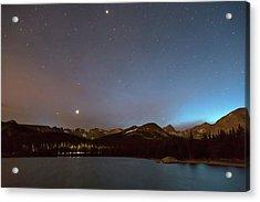 Acrylic Print featuring the photograph Colorado Brainard Lake Galaxy Night by James BO Insogna