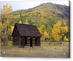 Colorado Cabin Acrylic Print by Marty Koch