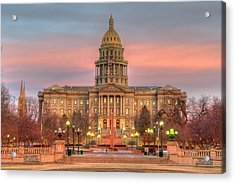 Acrylic Print featuring the photograph Colorado Capital by Gary Lengyel