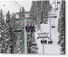 Colorado Chair Lift During Winter Acrylic Print