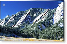 All Fivecolorado Flatirons Acrylic Print by Marilyn Hunt