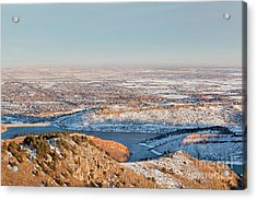 Colorado Front Range And Plains Acrylic Print