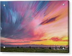 Colorado Front Range Crazy Sunset Timed Stack Acrylic Print by James BO Insogna