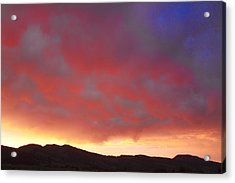 Colorado Front Range Rocky Mountains Foothills Sunset Acrylic Print by James BO  Insogna