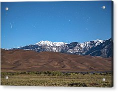 Colorado Great Sand Dunes With Falling Star Acrylic Print by James BO Insogna