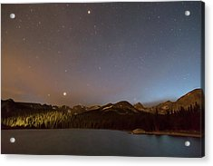 Acrylic Print featuring the photograph Colorado Indian Peaks Stellar Night by James BO Insogna