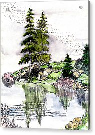 Colorado Lake Reflections Acrylic Print