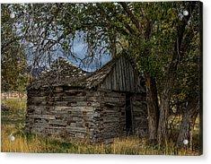 Colorado Log Cabin Acrylic Print