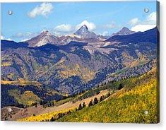 Colorado Mountains 1 Acrylic Print by Marty Koch