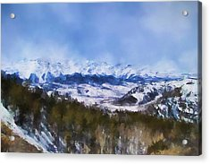 Colorado Mountains 3 Landscape Art By Jai Johnson Acrylic Print by Jai Johnson