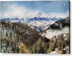 Colorado Mountains 4 Landscape Art By Jai Johnson Acrylic Print