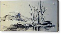 Colorado Pencil Sketch Acrylic Print by Judith Redman