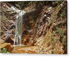 Acrylic Print featuring the photograph Colorado Red Rock Waterfall by Andrea Hazel Ihlefeld
