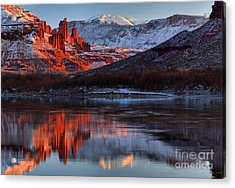 Acrylic Print featuring the photograph Colorado Red Tower Reflections by Adam Jewell