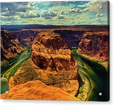 Colorado River At Horseshoe Bend Acrylic Print by Harry Strharsky
