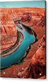 Colorado River Bend Acrylic Print by Az Jackson