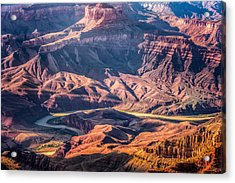 Acrylic Print featuring the photograph Colorado River Winding Thru Grand Canyon by Claudia Abbott