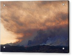 Colorado Rockies On Fire Acrylic Print by James BO  Insogna